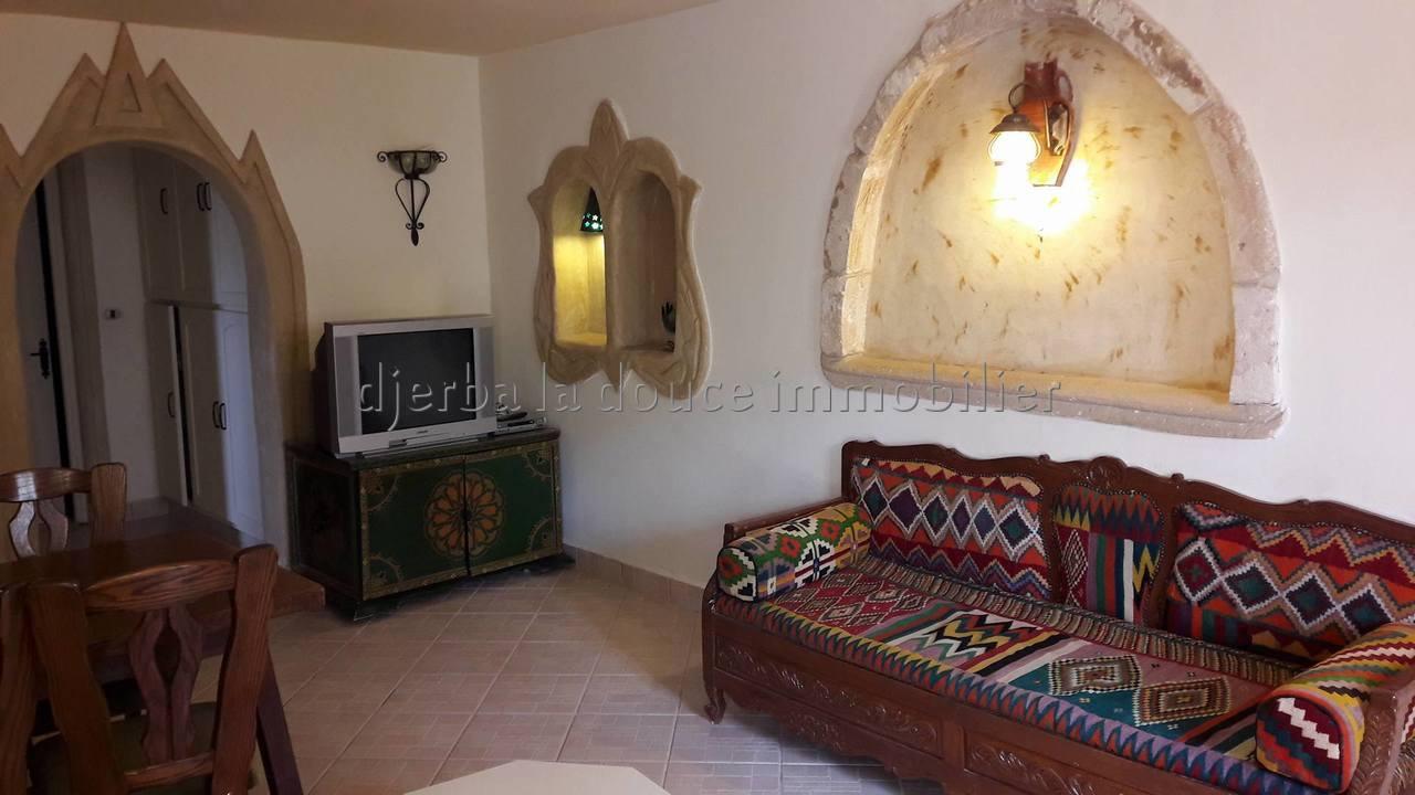 Appartements en s+2 meublés  dans une résidence avec piscine à louer à Djerba Midoun