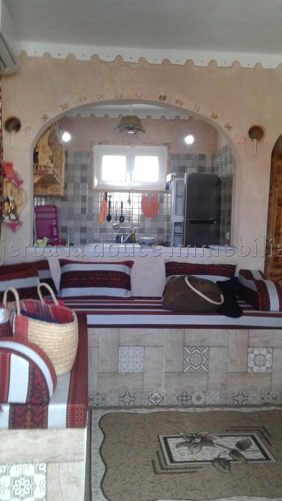 charmante maison de style traditionnel berb re louer l ann e mguerssa midoun djerba. Black Bedroom Furniture Sets. Home Design Ideas