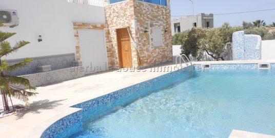 maison meublée avec piscine toute neuve avec vue sur la mer à louer à la zone touristique Djerba Midoun