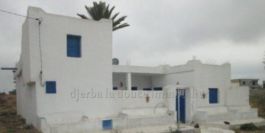 Un Houch Djerbien typique meublée à louer pour les vacances à Mahboubine Djerba pas loin de centre ville