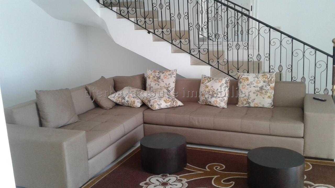 Appartement Meublé S+3 vue de mer à louer pour les vacances à Djerba proche de parc Djerba Explore